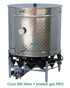 CUVES INOX brassage-Fond Flamme + piquages