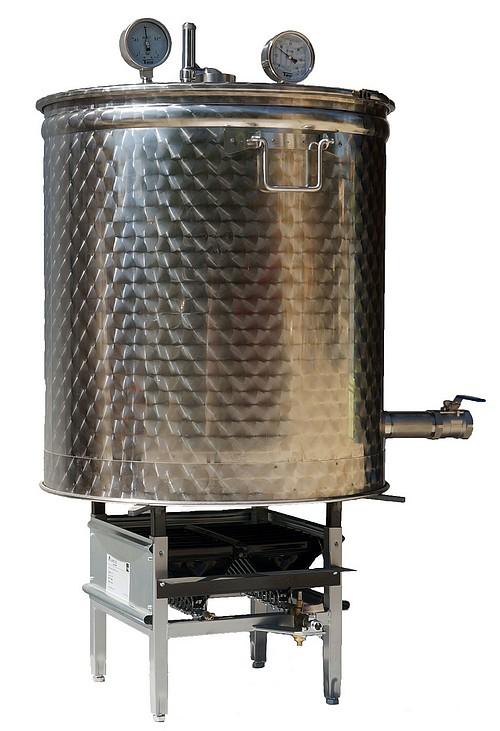 Cuve INOX avec bruleur gaz industriel
