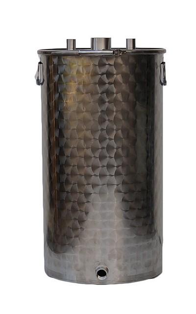 25 à 600 litres - 4 piquages - 10/10ème - INOX 304L 1 : 400 - 2 : 641