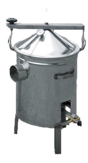 cuve inox pour ebullition chauffée au gaz