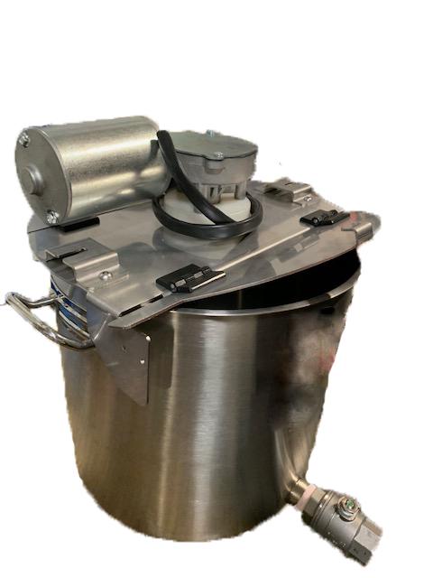 cuve inox avec melangeur 25 à 100 litres