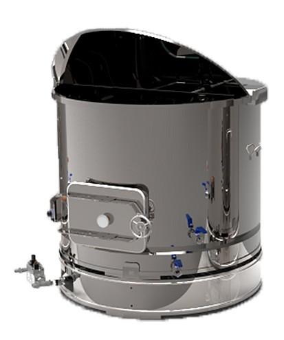 CUVES INOX électrique 90 à 800 L - double enveloppe huile ou eau - option mélangeur