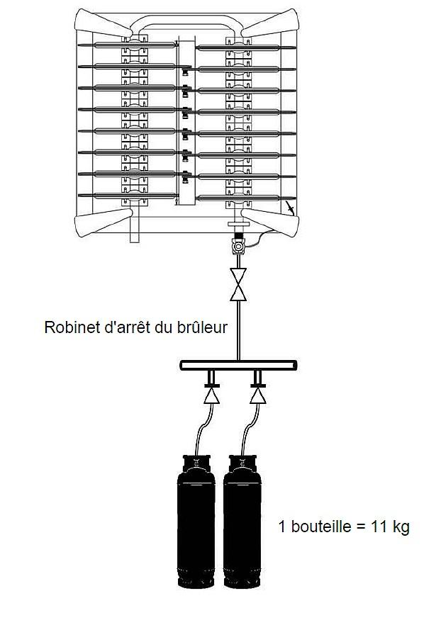 Schéma de raccordement Propane 31 Kw