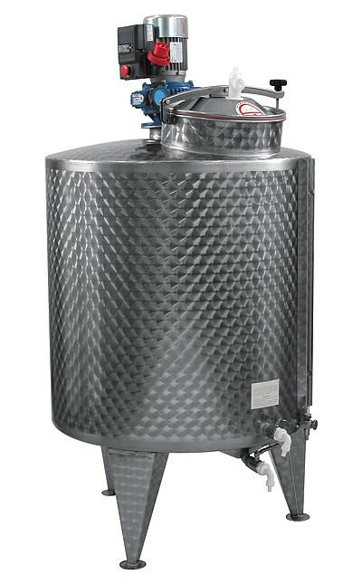 CUVE MVH + mélangeur VITESSE VARIABLE 600/1000 L