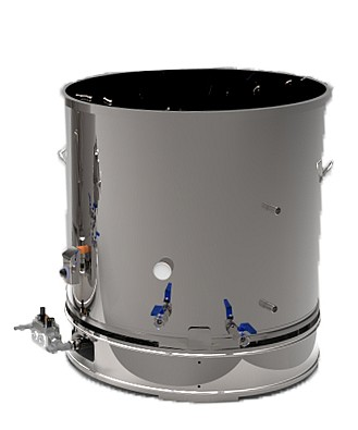 CUVE INOX électrique 90 à 800 L - bain marie HUILE