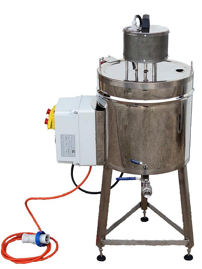CUVE INOX électrique 25-50 litres - double enveloppe bain marie + mélangeur