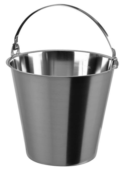 Seau Inox sans base capacité 12 litres avec anse et graduation