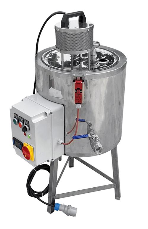 CUVE INOX électrique 25L - bain marie EAU 95°C + mélangeur