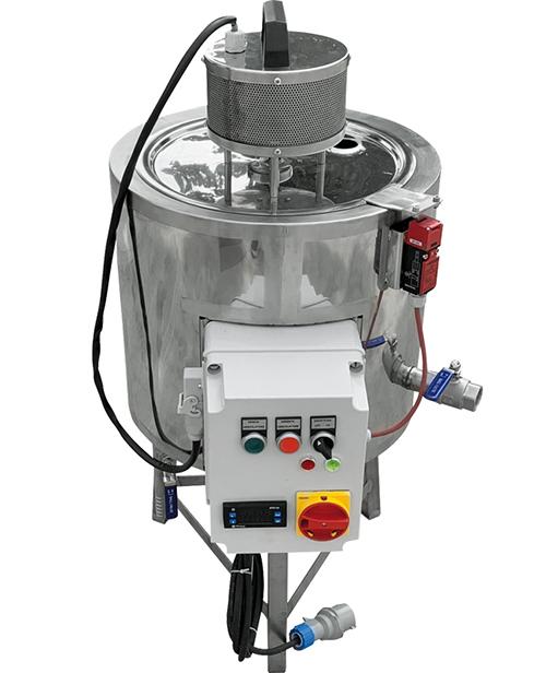 Cuve inox 25 litres complète sur pied avec chauffage électrique et mélangeur électrique