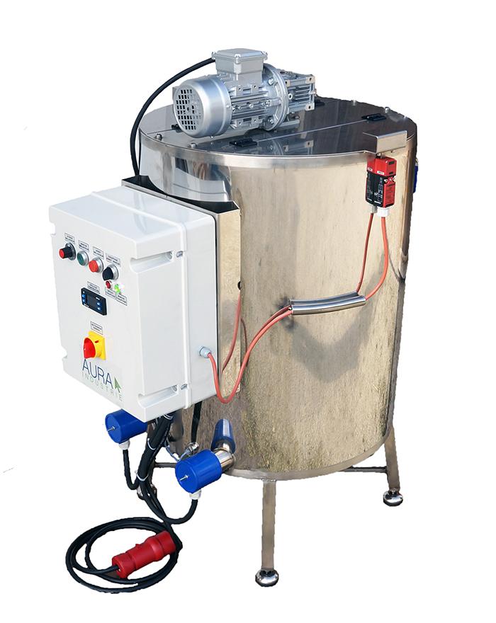 CUVE INOX électrique 100L - bain marie EAU 95°C + mélangeur
