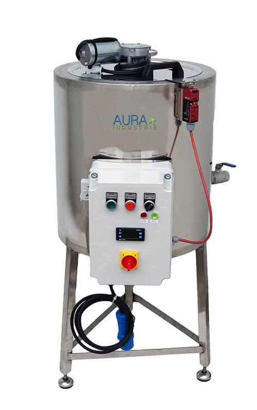 Cuve inox 50 litres chauffage électrique avec mélangeur