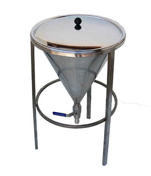 Cône de filtration inox avec filtre conique papier et couvercle
