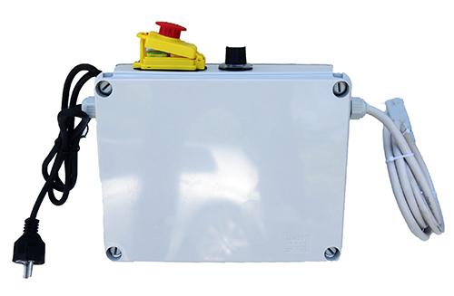 armoire électrique avec cuve inox mélangeur