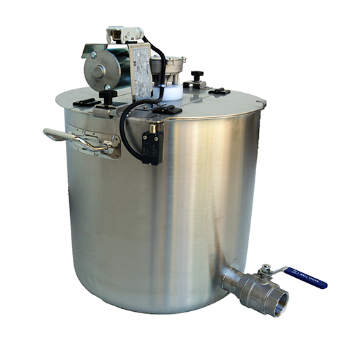 Cuve inox avec mélangeur électrique capacité 17 à 150 litres
